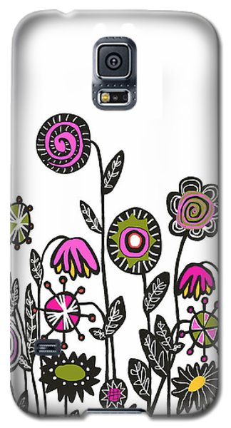 Galaxy S5 Case featuring the painting Hippie Garden by Lisa Weedn