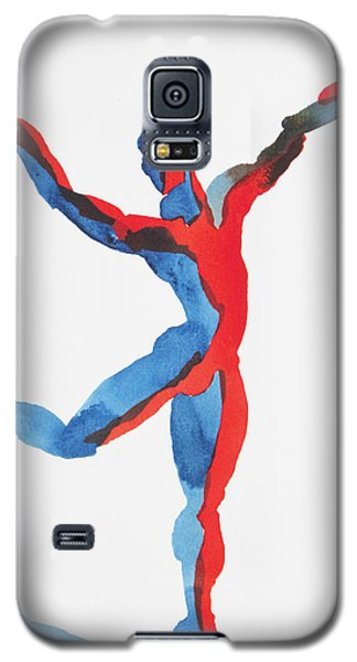 Galaxy S5 Case featuring the painting Ballet Dancer 3 Gesturing by Shungaboy X