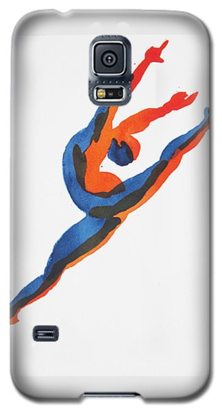 Galaxy S5 Case featuring the painting Ballet Dancer 2 Leaping by Shungaboy X