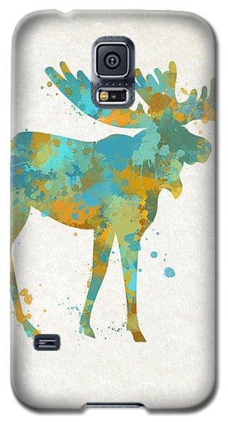 Moose Watercolor Art Galaxy S5 Case