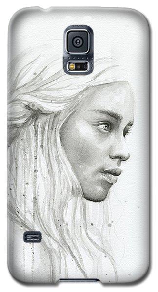 Dragon Galaxy S5 Case - Daenerys Watercolor Portrait by Olga Shvartsur