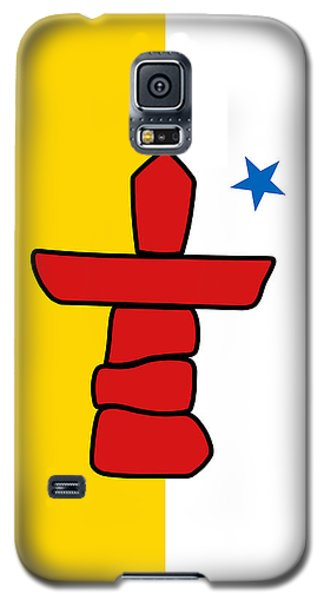 Flag Of Nunavut High Quality Authentic Hd Version Galaxy S5 Case by Bruce Stanfield