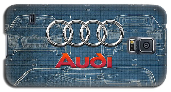 Audi 3 D Badge Over 2016 Audi R 8 Blueprint Galaxy S5 Case