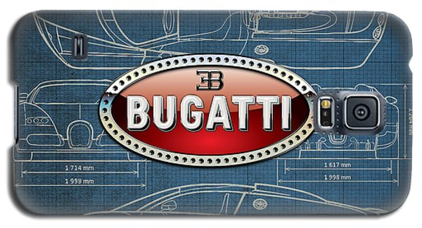Bugatti 3 D Badge Over Bugatti Veyron Grand Sport Blueprint  Galaxy S5 Case