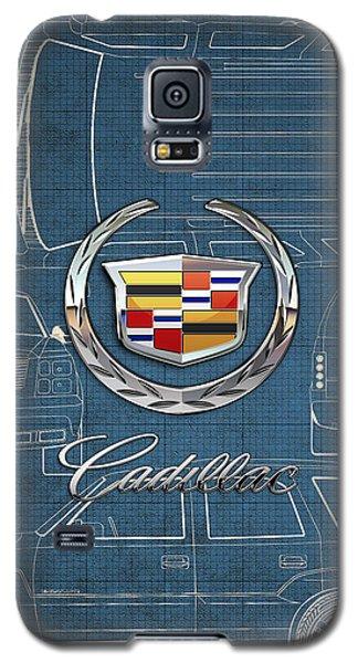 Cadillac 3 D Badge Over Cadillac Escalade Blueprint  Galaxy S5 Case