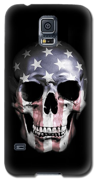 Galaxy S5 Case featuring the digital art American Skull by Nicklas Gustafsson