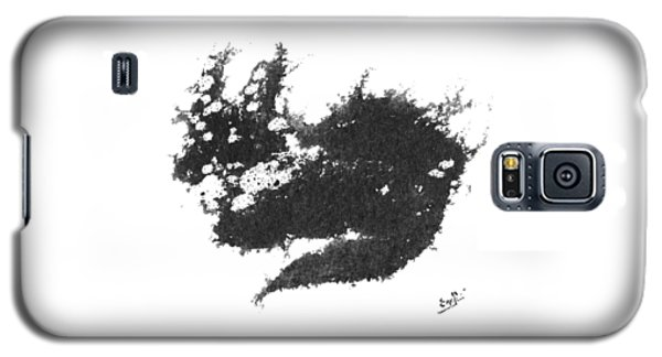 Galaxy S5 Case featuring the painting Electricat by Marc Philippe Joly