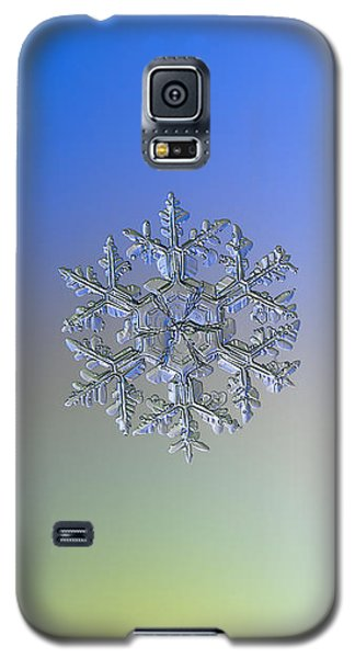 Galaxy S5 Case featuring the photograph Snowflake Photo - Gardener's Dream Alternate by Alexey Kljatov