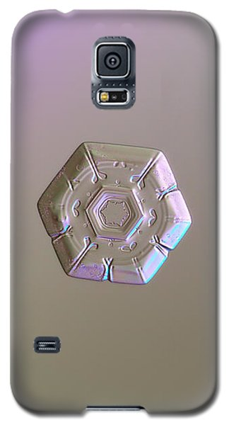 Galaxy S5 Case featuring the photograph Snowflake Photo - Frozen Hearts by Alexey Kljatov