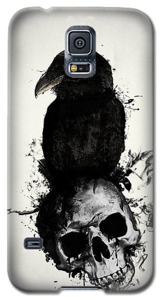 Raven And Skull Galaxy S5 Case by Nicklas Gustafsson