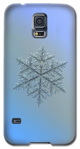 Galaxy S5 Case featuring the photograph Snowflake Photo - Majestic Crystal by Alexey Kljatov