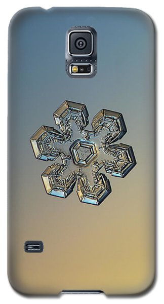 Galaxy S5 Case featuring the photograph Snowflake Photo - Massive Gold by Alexey Kljatov