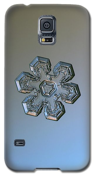 Galaxy S5 Case featuring the photograph Snowflake Photo - Massive Silver by Alexey Kljatov