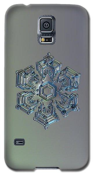 Snowflake Photo - Silver Foil Galaxy S5 Case