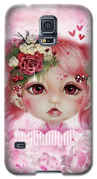 Galaxy S5 Case featuring the drawing Rosie Valentine - Munchkinz Collection  by Sheena Pike