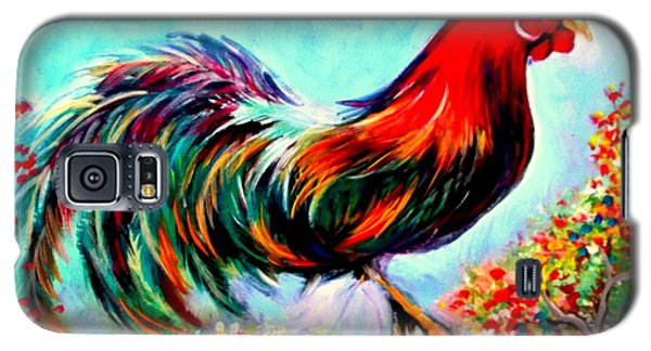 Galaxy S5 Case featuring the painting Rooster/gallito by Yolanda Rodriguez