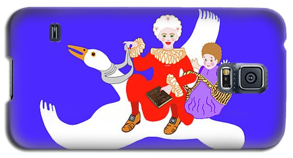 Mother Goose On Her Flying Goose Galaxy S5 Case by Marian Cates