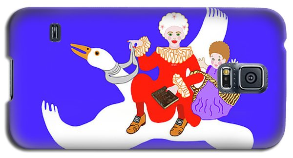 Mother Goose On Her Flying Goose Galaxy S5 Case