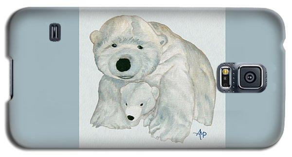 Cuddly Polar Bear Watercolor Galaxy S5 Case