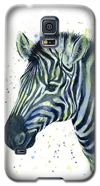 Zebra Watercolor Blue Green  Galaxy S5 Case
