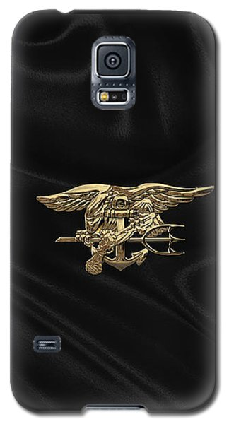 U.s. Navy Seals Trident Over Black Flag Galaxy S5 Case