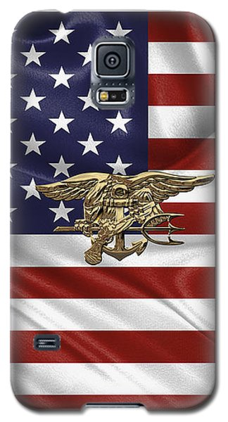 U.s. Navy Seals Trident Over U.s. Flag Galaxy S5 Case