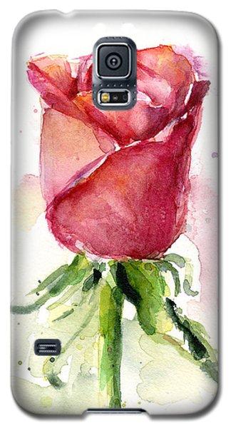 Rose Galaxy S5 Case - Rose Watercolor by Olga Shvartsur