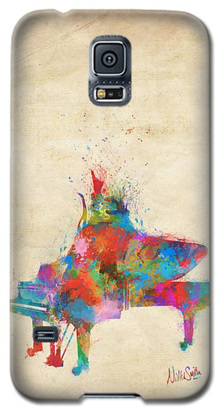 Galaxy S5 Case featuring the digital art Music Strikes Fire From The Heart by Nikki Marie Smith