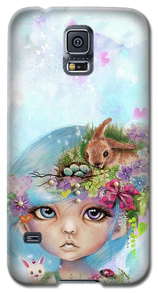 Galaxy S5 Case featuring the drawing Eliza - Easter Elf - Munhkinz Character by Sheena Pike