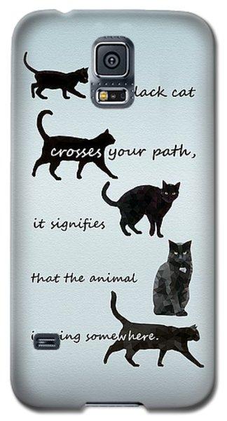 Black Cat Crossing Galaxy S5 Case