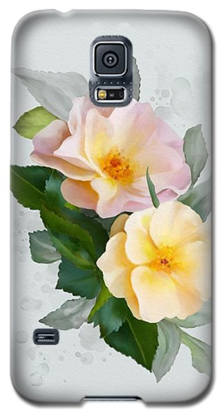 Two Wild Roses Galaxy S5 Case