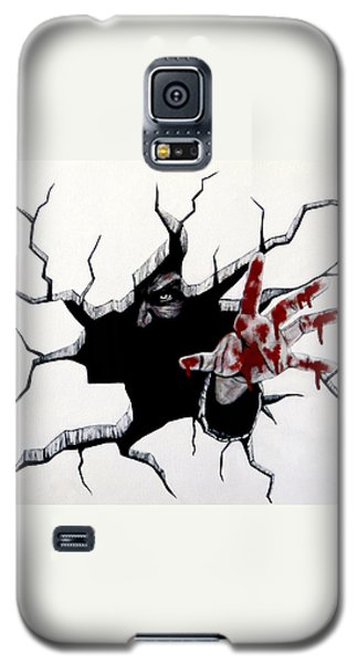 Galaxy S5 Case featuring the painting The Demon Inside by Teresa Wing