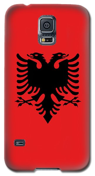 Galaxy S5 Case featuring the digital art Flag Of Albania Authentic Version by Bruce Stanfield