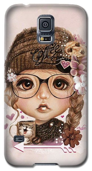 Galaxy S5 Case featuring the drawing Java Joanna by Sheena Pike