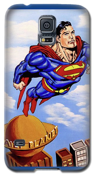 Galaxy S5 Case featuring the painting Superman by Teresa Wing