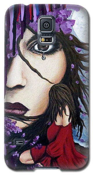 Galaxy S5 Case featuring the painting Alone by Teresa Wing
