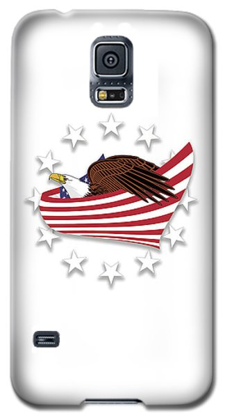 Galaxy S5 Case featuring the digital art Eagle Of The Free V1 by Bruce Stanfield
