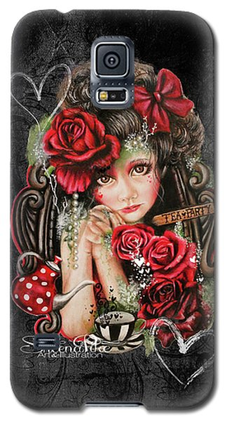 Galaxy S5 Case featuring the drawing Tea, Pretty Please? by Sheena Pike