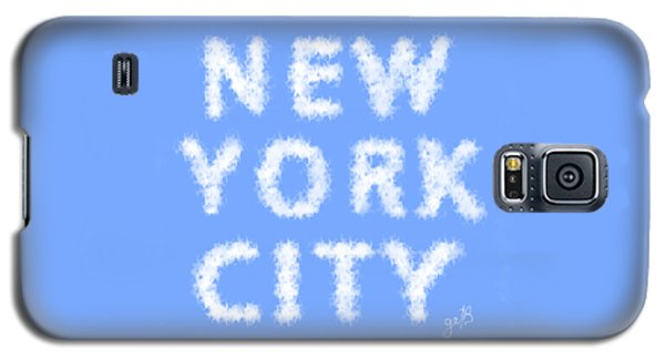 Galaxy S5 Case featuring the painting New York City Skywriting Typography by Georgeta Blanaru