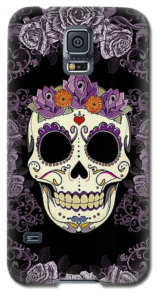 Vintage Sugar Skull And Roses Galaxy S5 Case by Tammy Wetzel