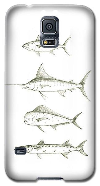 Swordfish Galaxy S5 Case - Saltwater Gamefishes by Juan Bosco