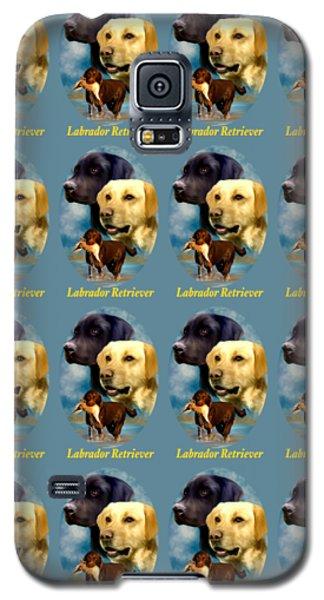 Labrador Retriever With Name Logo Galaxy S5 Case