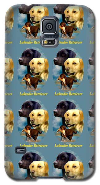 Labrador Retriever With Name Logo Galaxy S5 Case