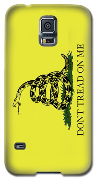 Galaxy S5 Case featuring the digital art Gadsden Dont Tread On Me Flag Authentic Version by Bruce Stanfield