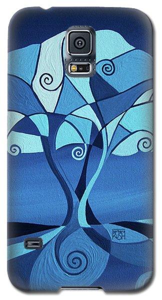 Enveloped In Blue Galaxy S5 Case