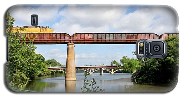 Train Across Lady Bird Lake Galaxy S5 Case