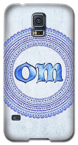 Blue Om Mandala Galaxy S5 Case by Tammy Wetzel