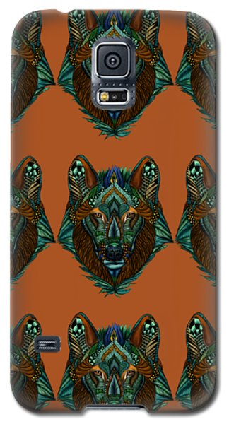 Zentangle Inspired Art- Wolf Colored Galaxy S5 Case