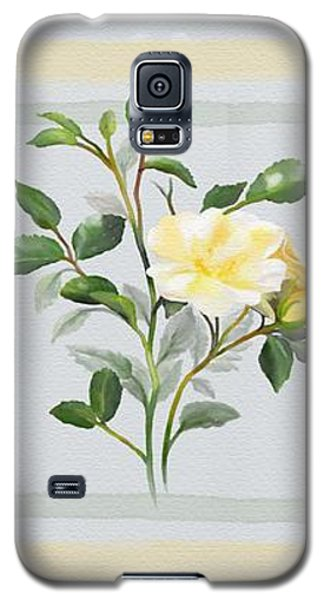 Yellow Watercolor Rose Galaxy S5 Case