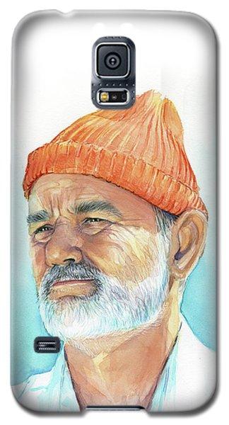 Watercolor Galaxy S5 Case - Bill Murray Steve Zissou Life Aquatic by Olga Shvartsur